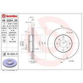 Bremsscheibe 09.5254.20 NISSAN 200 SX 220 PS Große Auswahl - stark reduziert!