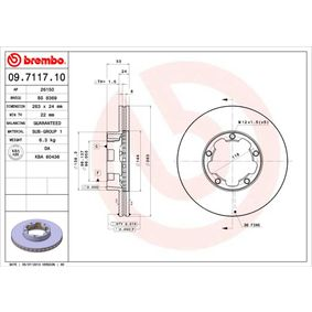 Brake Disc 09.7117.10 for NISSAN TRADE at a discount — buy now!