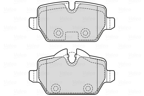 Bremsbelagsatz VALEO 601731