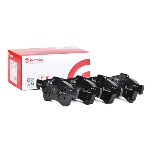 CHRYSLER VOYAGER 2005 Bremssteine - Original BREMBO P 11 015 Höhe: 65,6mm, Breite: 172,4mm, Dicke/Stärke: 18mm