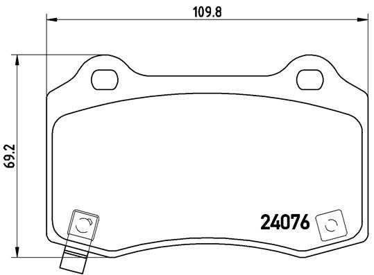 Buy original Brake pad set disc brake BREMBO P 11 024