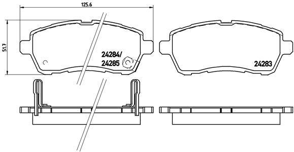 Bremsbelagsatz, Scheibenbremse P 16 013 von BREMBO