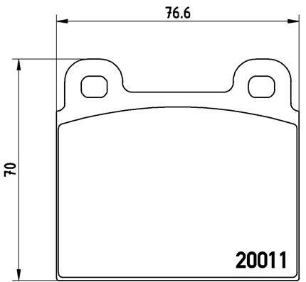 Buy original Brake pad set BREMBO P 23 001
