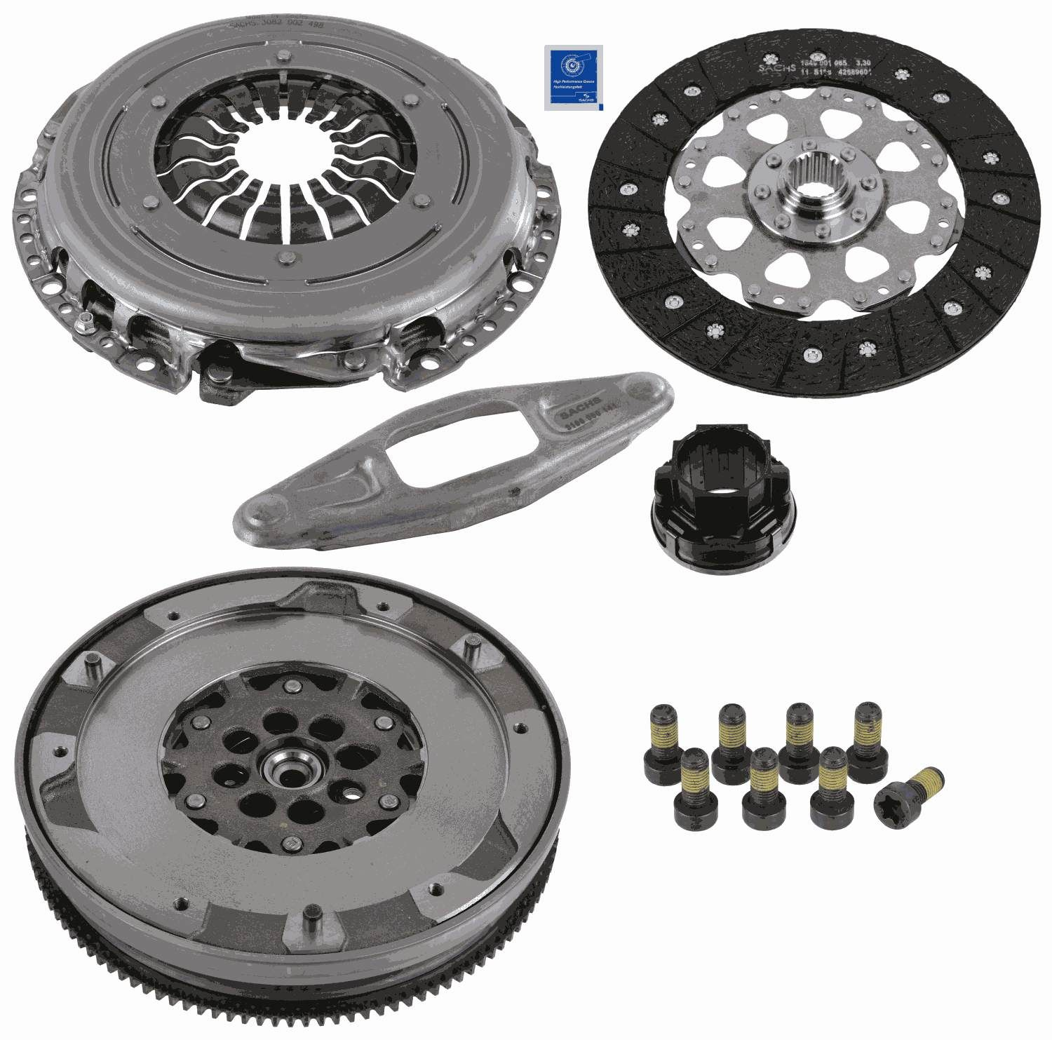 BMW 2 Series 2014 Clutch kit SACHS 2290 601 148: with clutch pressure plate, with double-mass flywheel, with clutch disc, with clutch release bearing