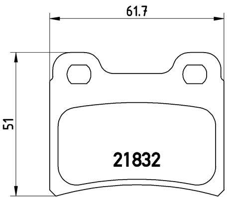 Achetez Système de freinage BREMBO P 24 030 (Hauteur: 51mm, Largeur: 61,7mm, Épaisseur: 15mm) à un rapport qualité-prix exceptionnel