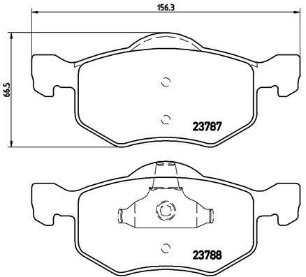 Original FORD USA Bremsbelagsatz P 24 056