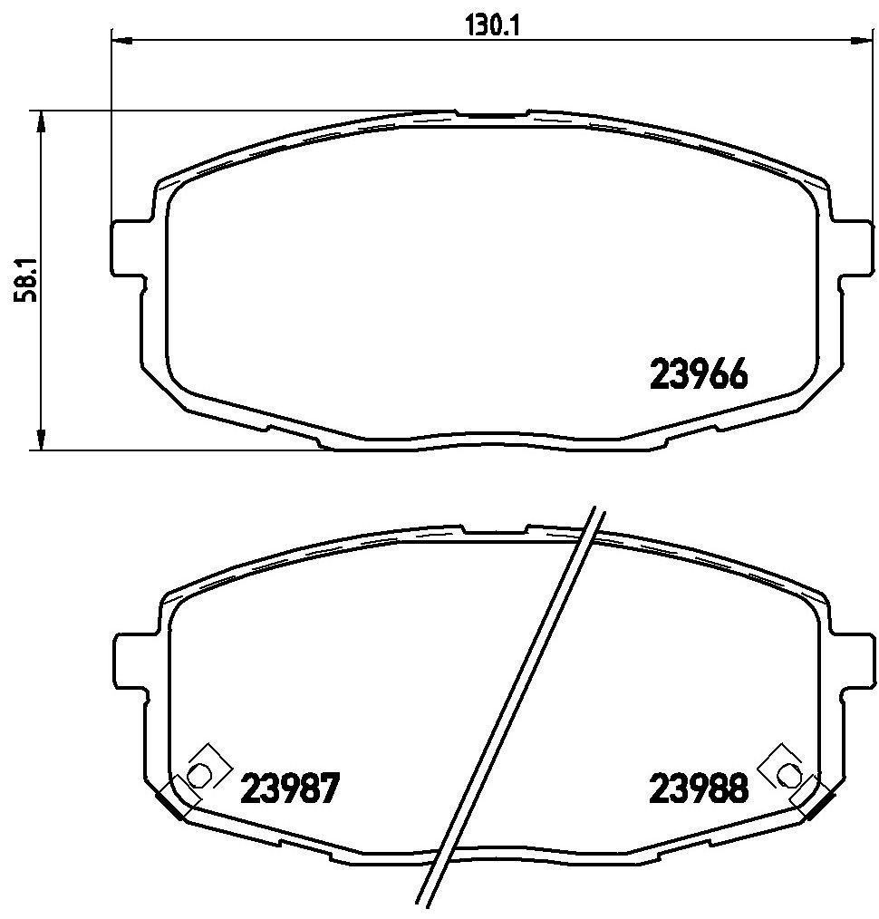 P 30 034 Bremsbelagsatz BREMBO - Markenprodukte billig