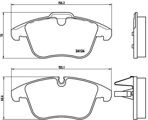 P 36 022 Bremsbelagsatz BREMBO - Markenprodukte billig
