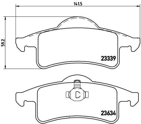 P 37 006 Bremsbelagsatz BREMBO - Markenprodukte billig