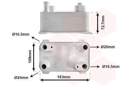 Getriebe Ölkühler VAN WEZEL 58013725