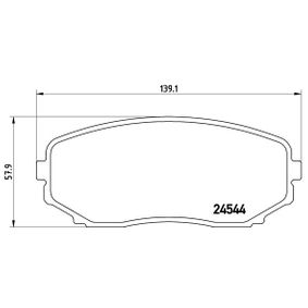 Brake Pad Set, disc brake P 49 040 for MAZDA CX-7 at a discount — buy now!