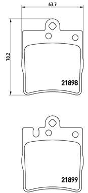 P 50 033 Bremsbelagsatz BREMBO - Markenprodukte billig