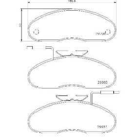 Brake Pad Set, disc brake P 56 019 for NISSAN TRADE at a discount — buy now!