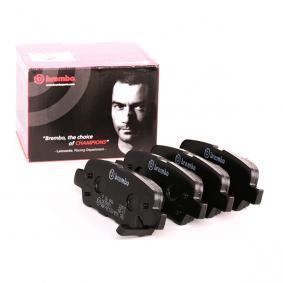 D9057784 BREMBO mit akustischer Verschleißwarnung Höhe: 36,5mm, Breite: 105,4mm, Dicke/Stärke: 13,8mm Bremsbelagsatz, Scheibenbremse P 56 046 günstig kaufen