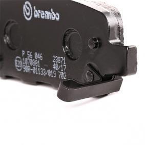 P 56 046 Bremsbelagsatz, Scheibenbremse BREMBO - Markenprodukte billig