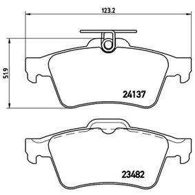 Bremsbelagsatz, Scheibenbremse P 59 042 von BREMBO