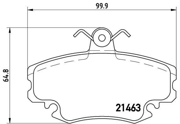 P68038 Bremsbeläge BREMBO D15798256 - Große Auswahl - stark reduziert