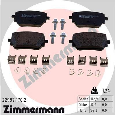 Bremsbeläge ZIMMERMANN 22987.170.2