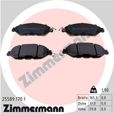 Bremsbelagsatz ZIMMERMANN 25589.170.1