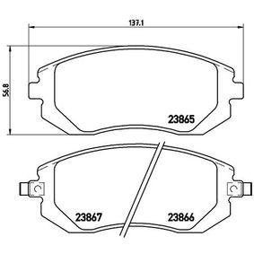 P78013 Bromsbeläggssats, skivbroms BREMBO - Upplev rabatterade priser