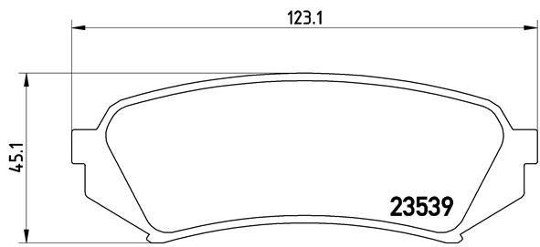 LEXUS LX 2015 Bremsklötze - Original BREMBO P 83 049 Höhe: 45,1mm, Breite: 123,1mm, Dicke/Stärke: 17,5mm