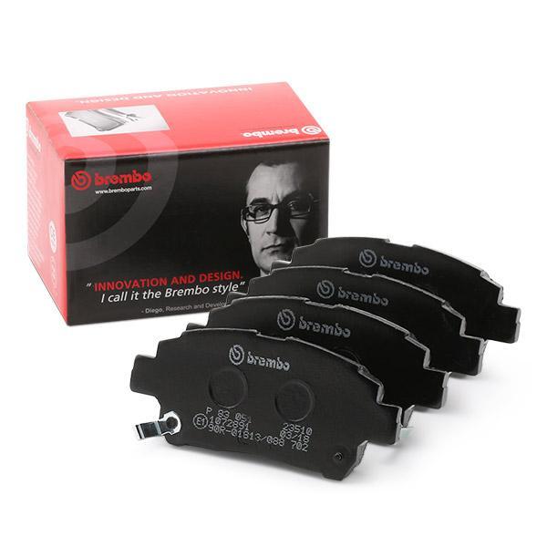 7722D846 BREMBO mit akustischer Verschleißwarnung Höhe: 51,3mm, Breite: 116,4mm, Dicke/Stärke: 15,5mm Bremsbelagsatz, Scheibenbremse P 83 051 günstig kaufen