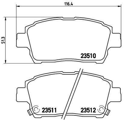 P 83 051 Bremsbelagsatz BREMBO - Markenprodukte billig