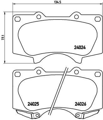 P 83 066 Bremsbelagsatz BREMBO - Markenprodukte billig