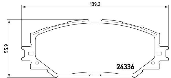 Original LEXUS Bremsbelagsatz Scheibenbremse P 83 082