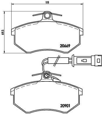 7571D684 BREMBO inkl. Verschleißwarnkontakt, mit Bremssattelschrauben, mit Zubehör Höhe: 69,5mm, Breite: 118,8mm, Dicke/Stärke: 19,6mm Bremsbelagsatz, Scheibenbremse P 85 016 günstig kaufen