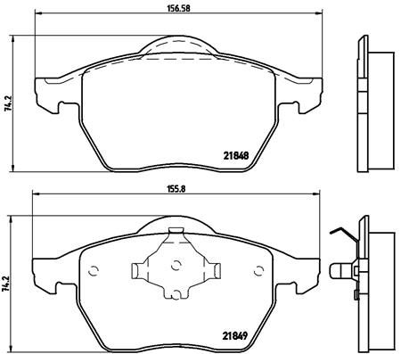 Stabdžių trinkelių rinkinys, diskinis stabdys BREMBO P 85 039 Apžvalgų