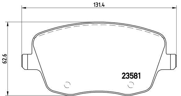 Bremsklötze BREMBO P 85 057