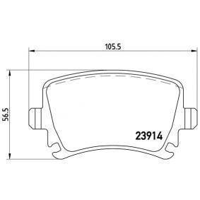P 85 095 Bremsbelagsatz, Scheibenbremse BREMBO in Original Qualität