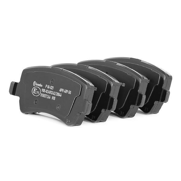 P86021 Bremsbeläge BREMBO D13078422 - Große Auswahl - stark reduziert