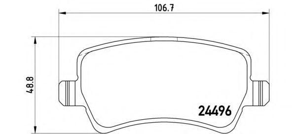 Bremsbelagsatz, Scheibenbremse P 86 021 von BREMBO