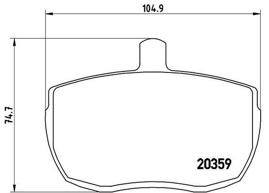 Buy original Brake pad set disc brake BREMBO P A6 001