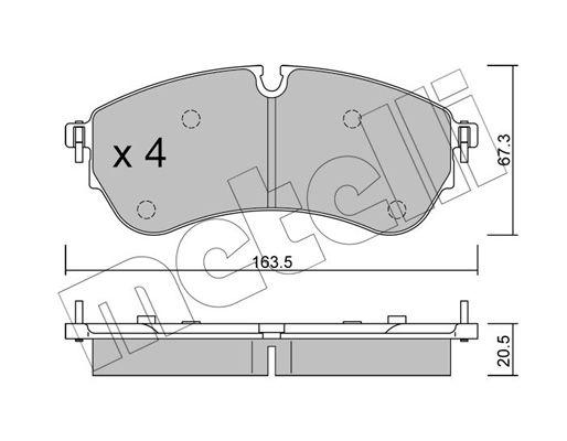OE Original Bremsklötze 22-1173-0 METELLI