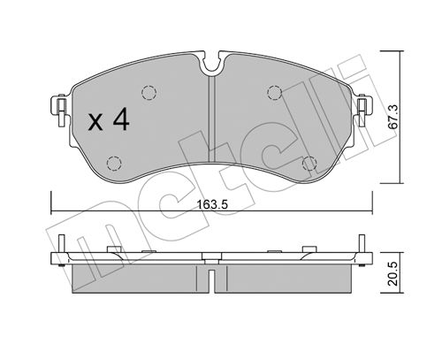 Disk pads 22-1173-0 METELLI — only new parts
