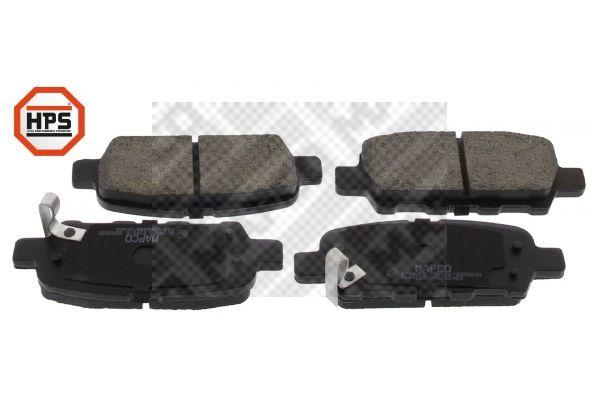 Bremsklötze NISSAN Murano III (Z52) hinten + vorne 2015 - MAPCO 6754HPS (Höhe: 39,5mm, Breite: 105,5mm, Dicke/Stärke: 14,2mm)