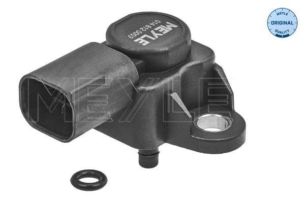MERCEDES-BENZ E-Klasse 2014 Sensor, Saugrohrdruck - Original MEYLE 014 812 0003 Pol-Anzahl: 3-polig, bis: 3bar, von: 0,5bar