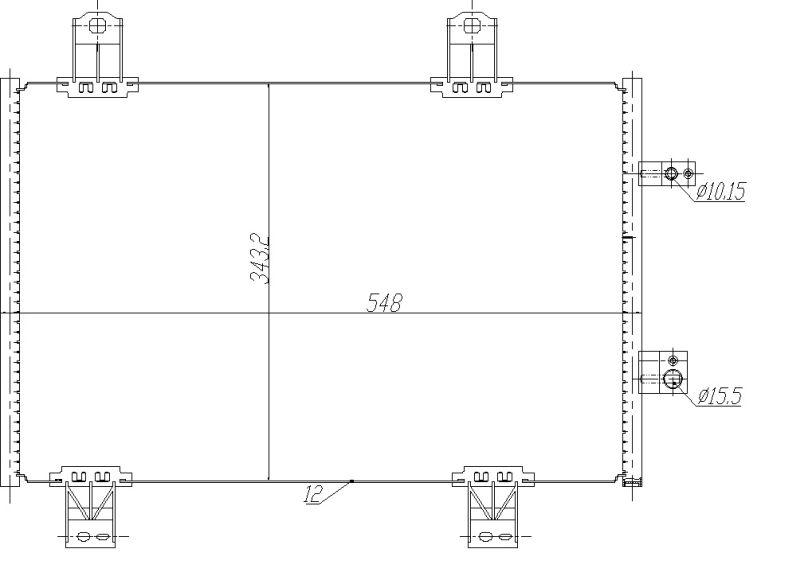 MAZDA CX-3 2015 Kondensator Klimaanlage - Original NRF 350480