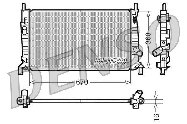 DRM10075 DENSO Aluminium Kühler, Motorkühlung DRM10075 günstig kaufen