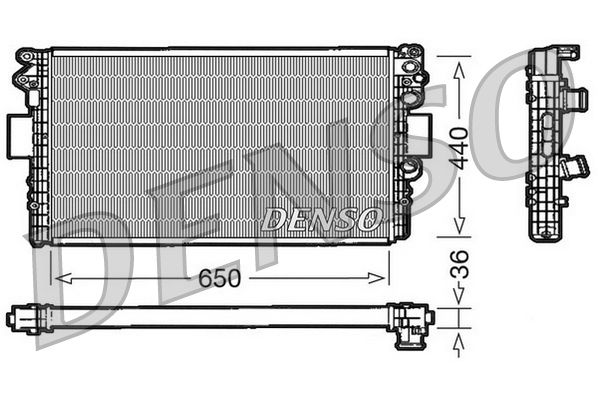 DRM12004 DENSO Aluminium Kühler, Motorkühlung DRM12004 günstig kaufen