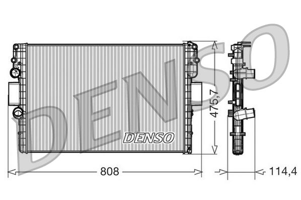DRM12010 DENSO Aluminium Kühler, Motorkühlung DRM12010 günstig kaufen