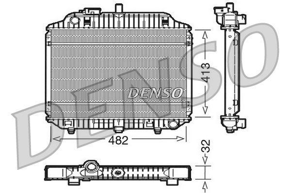 DRM17010 DENSO Aluminium Kühler, Motorkühlung DRM17010 günstig kaufen