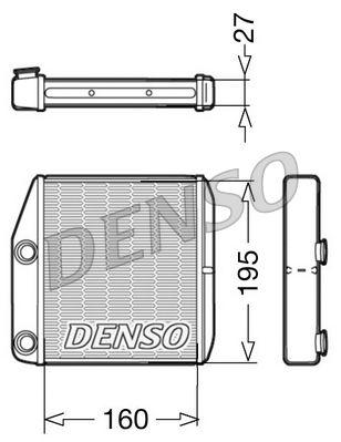 Heizungskühler DENSO DRR09075