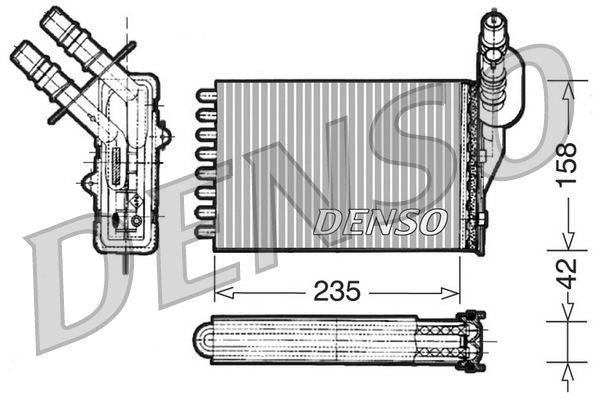 DRR23001 DENSO Wärmetauscher, Innenraumheizung DRR23001 günstig kaufen