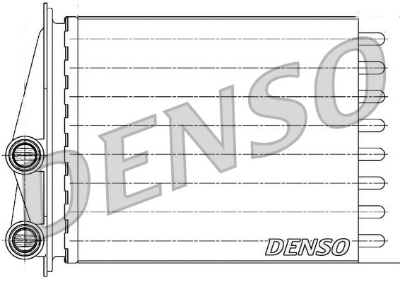 DRR23020 DENSO Wärmetauscher, Innenraumheizung DRR23020 günstig kaufen