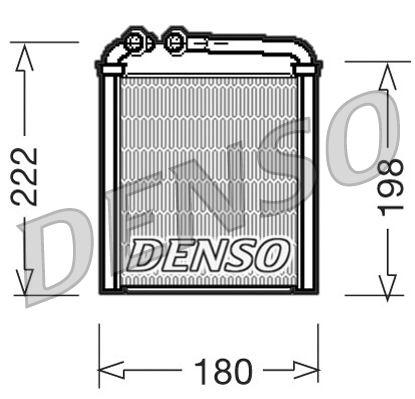 DRR32005 Wärmetauscher, Innenraumheizung DENSO in Original Qualität