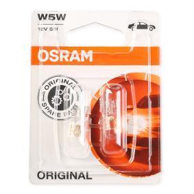 Achat de W5W OSRAM ORIGINAL W5W, W2,1x9,5d, 12V, 5W Ampoule, feu clignotant 2825-02B pas chères